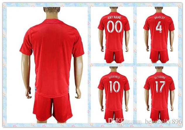 0ee0450c4 ... Fast Uniforms Kit 2016 Toronto FC 10 GIOVINCO 17 ALTIDORE 4 BRADLEY Soccer  Jersey 2016- Toronto FC Football Club Reds MLS Soccer Jersey Adidas Red ...