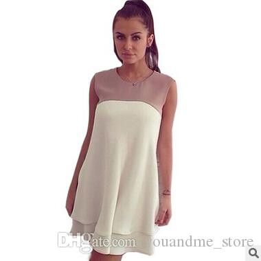 644d2ce661a3 Fashion Summer Dresses For Womens Cute Mini Dress Sexy Sleeveless Chiffon  White Dress Vestidos Party Prom Girl Casual Dress Clothes B20 White Floral  Dress ...