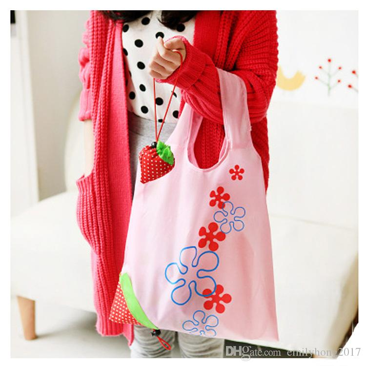 Симпатичные Клубники Корзины Сумки Складная Tote Eco Многоразовый Хранение Бакалея Сумка Tote Сумка Многоразовая Экологически чистые сумки