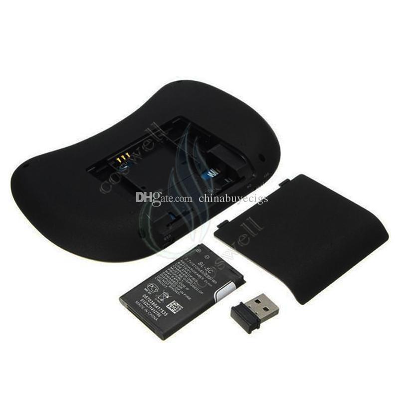 Top mini i8 2.4G Teclado inalámbrico RII batería recargable Touchpad Control remoto Fly Mouse PC Pad Google Andriod TV Box Xbox360 PS3 DHL