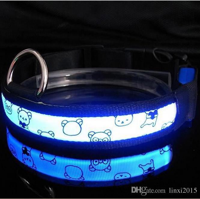 LED Blinkhalsband LED Haustierhalsband Halskette Rot Gelb Blau Grün Weiß Rosa Orange Mehrfarbenversand durch DHL geben frei