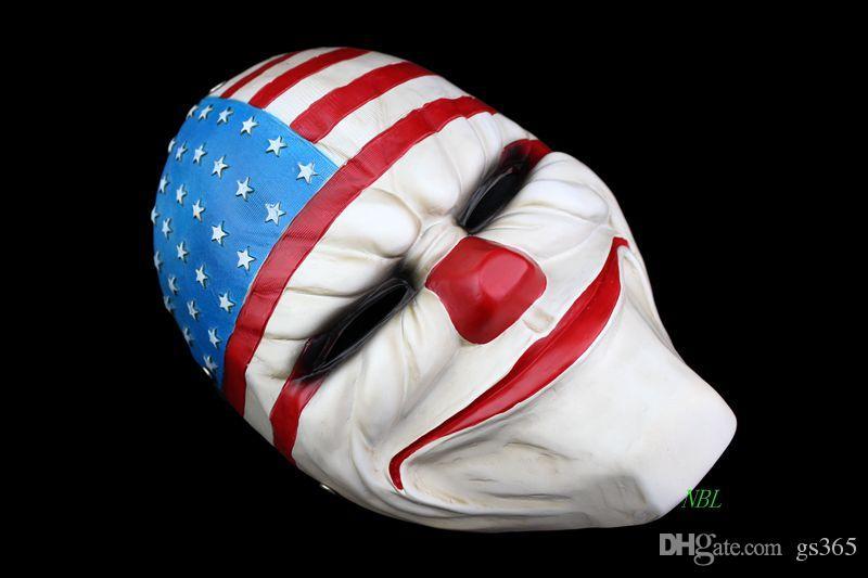 American National Flag Grimace Joker Same Masks New Halloween Cosplay Harvest Day 2 Series Funny Resin Mask 100% Original Factory Price