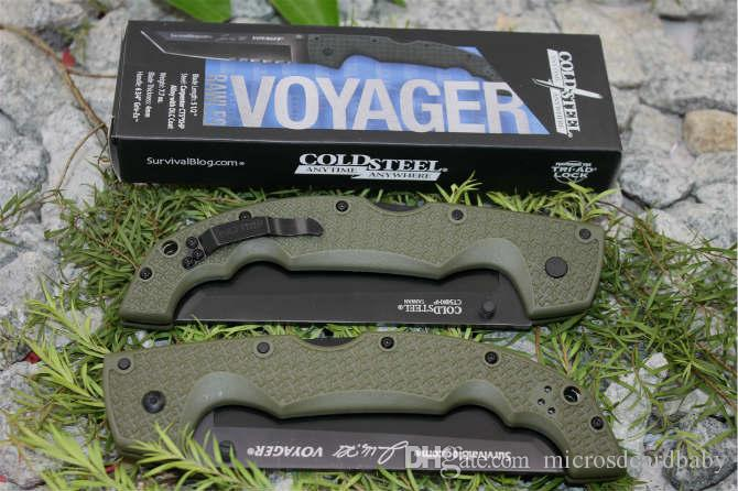 Couteau de Collection 2 Styles Couteau En Acier Froid 29UXTGH VOYAGER XL CTS XHP Couteau Tanto Voyager Série Cadeau Personnalisé Cadeau F698E