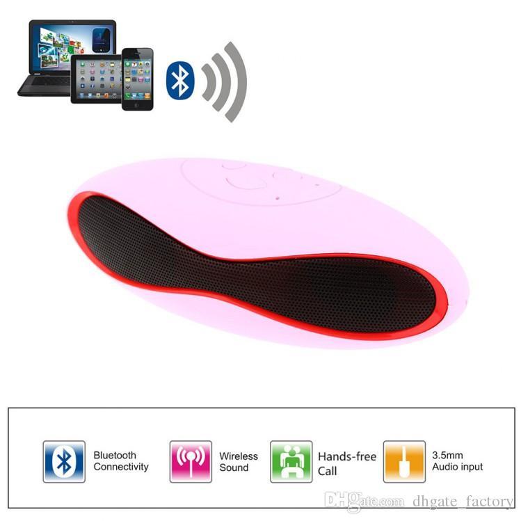 Mini-X6U X6 Rugby Mini Portable Stereo Speaker Soccer Wireless Bluetooth Handsfree FM With MIC USB AUX Micro TF Card MP3 Player universal