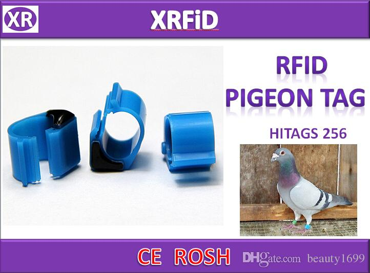 Hitags256 rfid pigeon ring tag Dia 10mm 134.2khz ABS pigeon tag blank format 500pcs/lot Free Ship