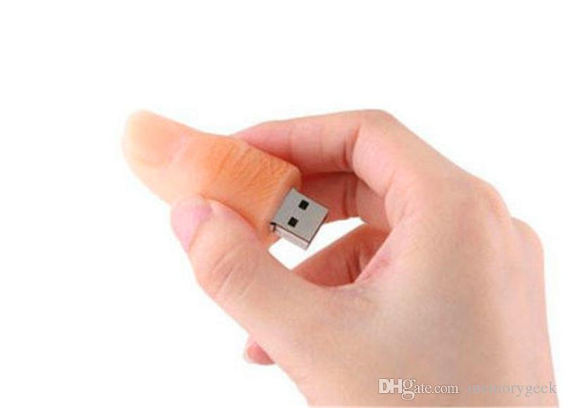 새로운 32 기가 바이트 64 기가 바이트 128 기가 바이트 256 기가 바이트 재미 있은 인간의 손가락 모델의 USB 2.0 플래시 메모리 스틱 펜 드라이브 높은 Qualtiy