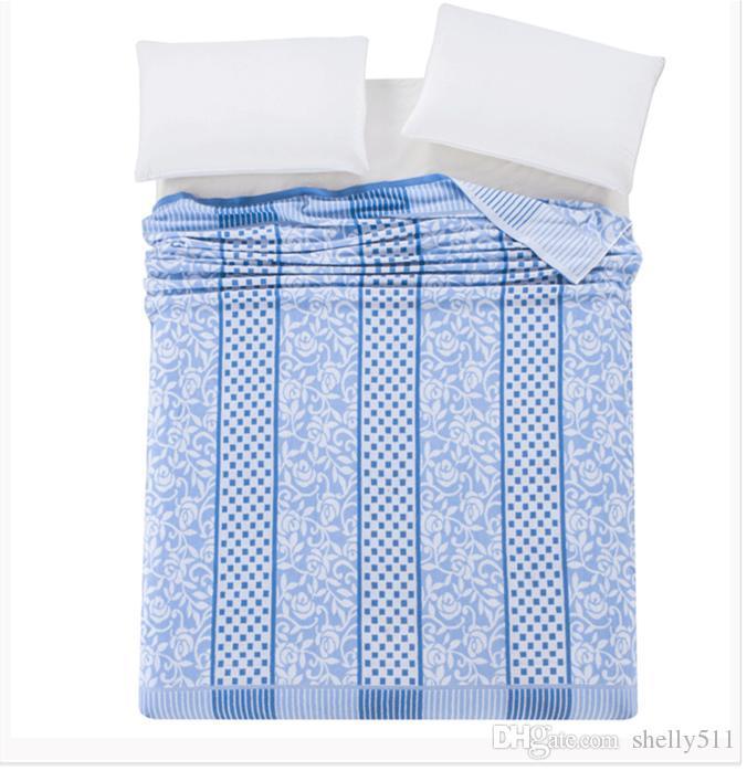 Luxury Blanket Handduk Blanket Sommar Kasta Trådplåt Vuxna Storlek 4 Färger Twin, Double, King