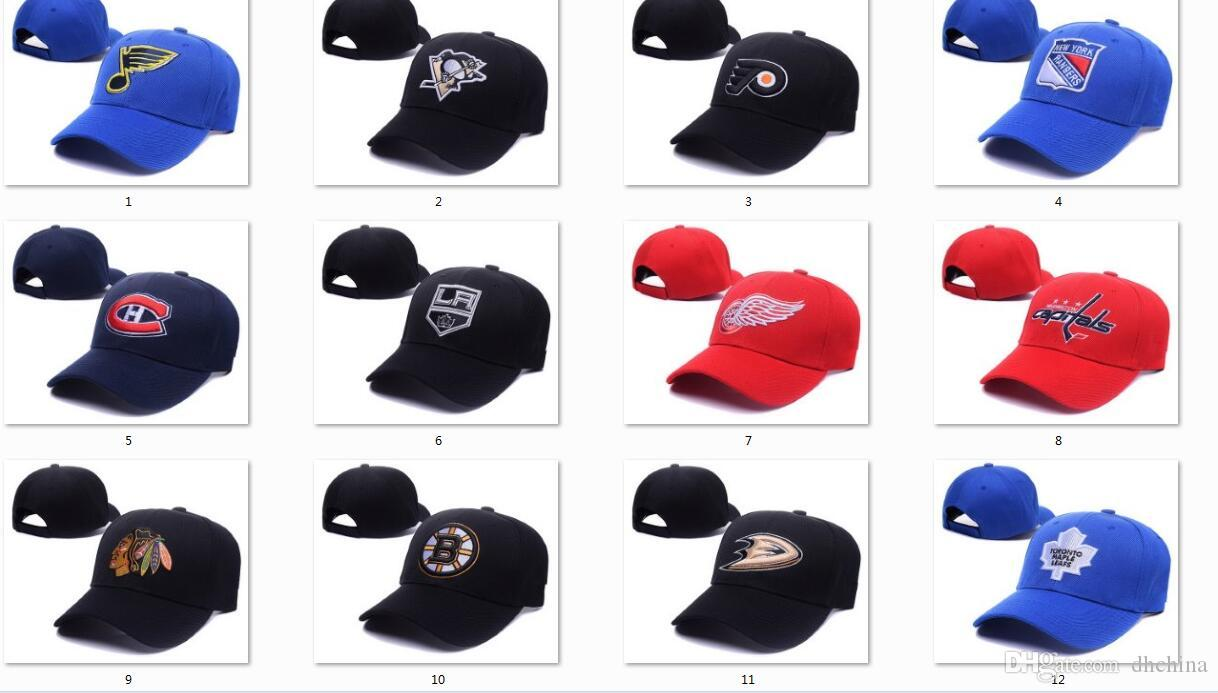 6acf77ce60e6d0 2019 New 2016 Hockey Caps Team Adjustable Hat Red Blue Black Color 12 Teams  All Caps Top Quality Hat All Hats From Dhchina, $4.25 | DHgate.Com