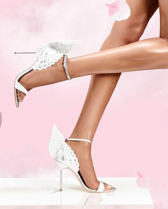 SOPHIA WEBSTER Evangeline Winged Leather Sandals 0qdvAbk