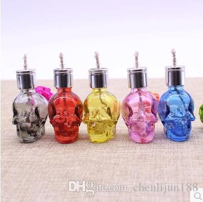The new skeleton shape Xuan color glass alcohol lamp, color, style random delivery, Water pipes, glass bongs, glass Hookahs, smoking pipe