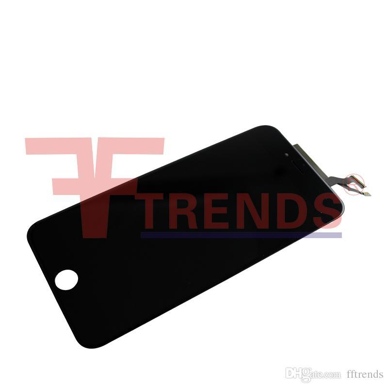 Preto branco para iphone 6 s plus lcd assembléia 5.5 polegada display com tela de toque digitador 3d toque de substituição frete grátis 100% testado