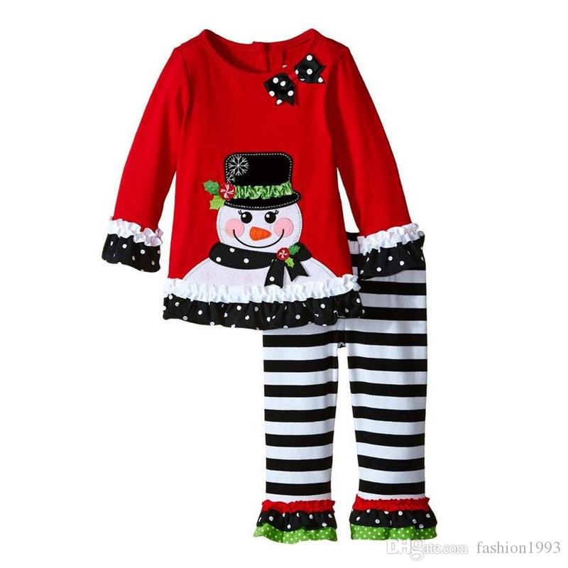 2017 Ins New Cartoon Suits Girls Pajamas Sets Children Sleepwear Girls Nightwear For Kids Christmas Pajamas Toddler Baby Pyjamas