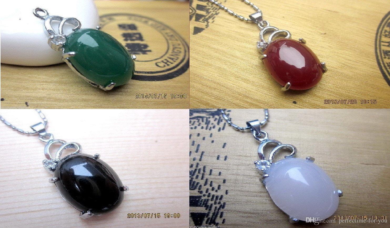 4 cores atacado asiático natural jade jóias pingente