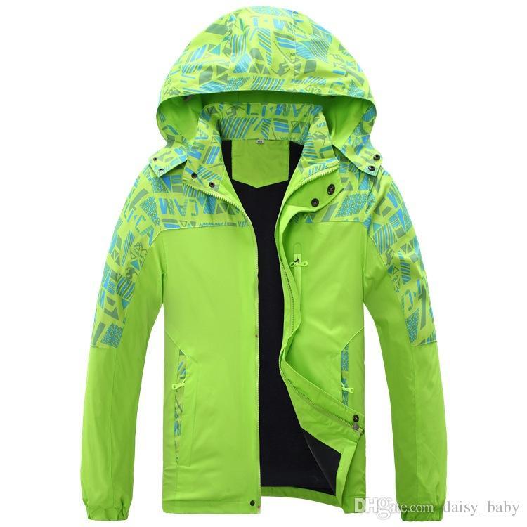 2017 Autumn Fashion Kids Outdoor impermeabile Alpinismo Giacche bambini Camouflage Windbreaker delle ragazze dei ragazzi il cappotto antivento