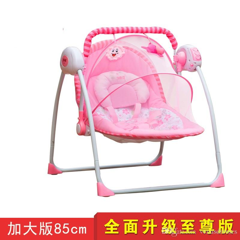 2016 Baby Electric Rocking Chair Bouncer Intelligent Baby Swing Chair  Placarders Bb Chaise Lounge Extra Wide Rocking Chair Outdoor Wooden Rocking  Chairs For ...