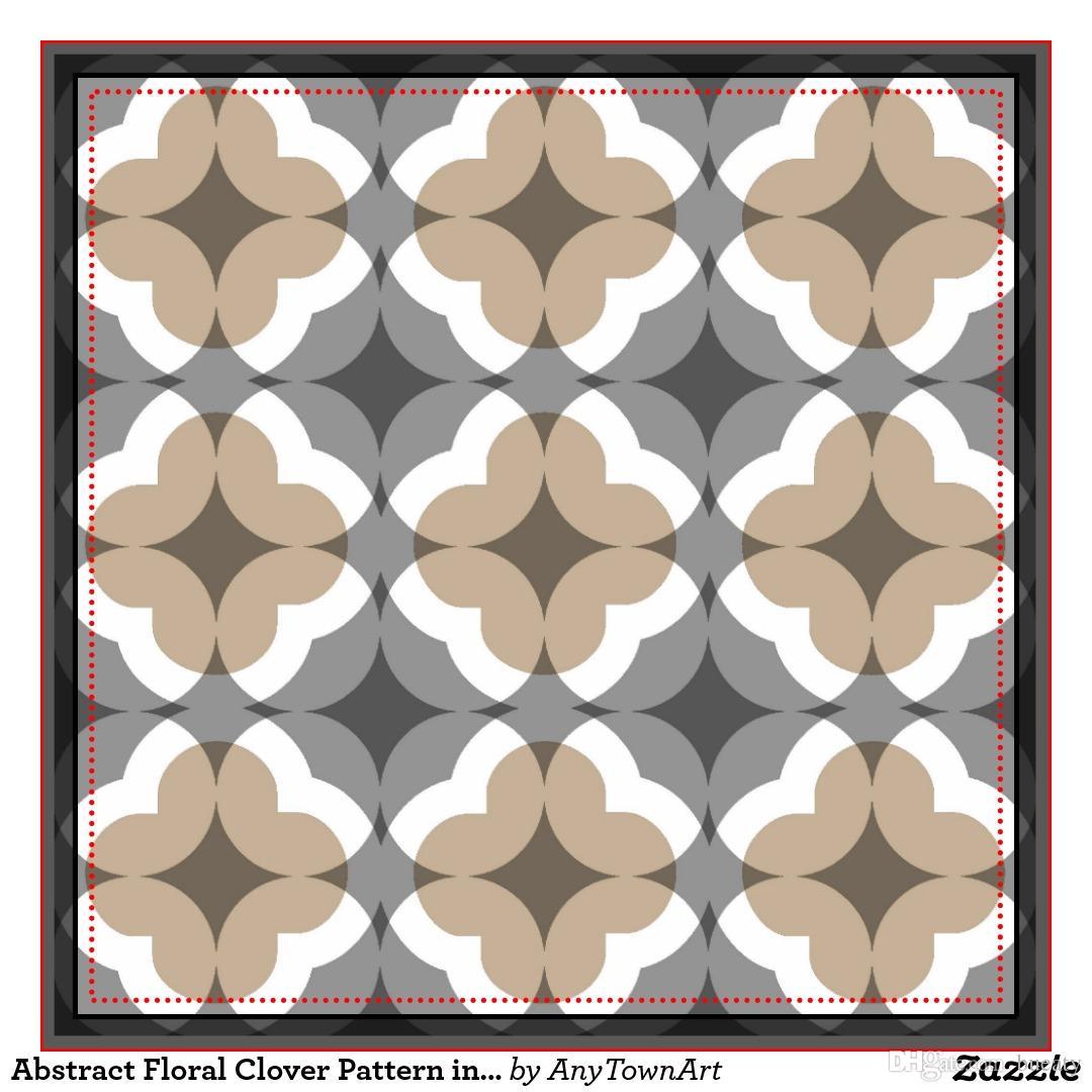 Abstraktes Kleeblattmuster im tan und grauen Kissen 50% Baumwolle und 50% Leinenmaterialfarbe wie gezeigt 16x16inch 18x18inch 20x20inch