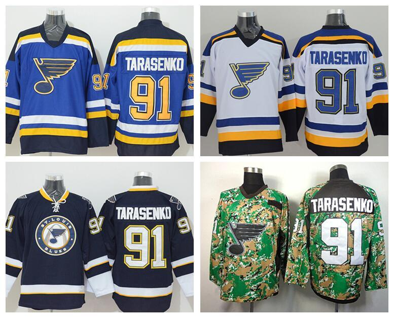 low priced 63896 14e06 St. Louis Blues Hockey 91 Vladimir Tarasenko Jerseys For Sport Fans Team  Color Navy Blue White Alternate Sewn On 100% Embroidery