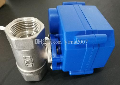wholesale CWX-15Q series actuator ,2 way Stainless Steel 304 ball valve,3/4'' DN20 BSP thread, DC12V, CR04 wire control