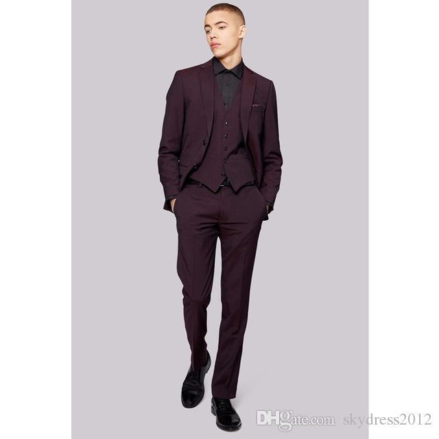 Custom Made Hot Sale Mens wedding Suits Formal Wear Slim Fit Suits Coat Blazer Men Suits Jacket+Pants+Vest G531