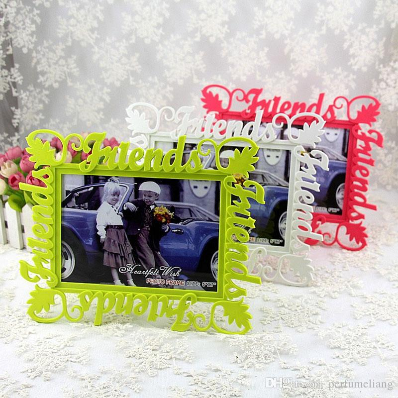 Европейский письмо пластиковые фото полые рамки друзья фоторамки Home Decor пункт свадебные подарки Дружбы фотостудия подарок ZA4805