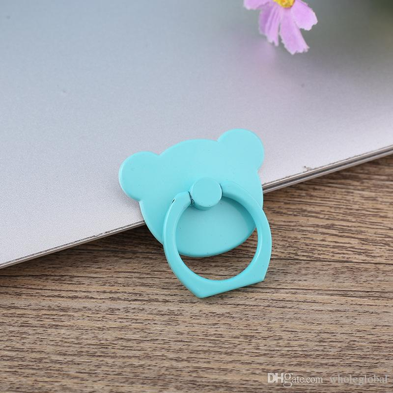 Hot Cartoon Bear Mobbile Phone Ring Buckle Finger Ring Stand Bracket Holeder Mount Ring Following Grip Fashion Shell Tablet Anti-theft
