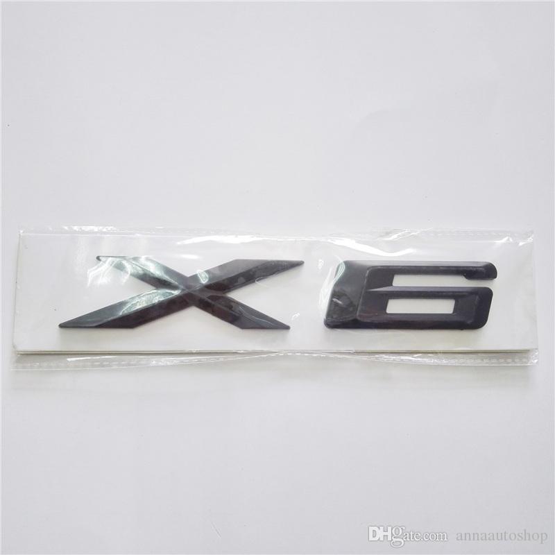 Nouveau logo anglais Autocollants de voiture pour BMW X Série X1 X3 X5 X6 Autocollants de voiture pour BMW 1 3 5 7