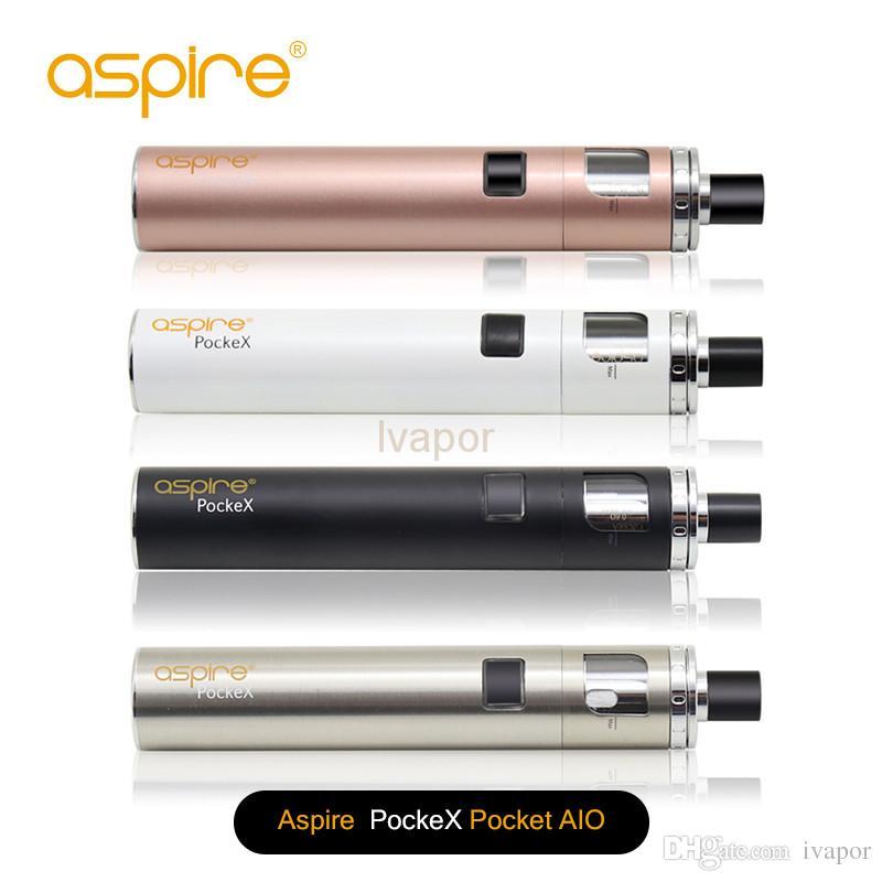 El kit de inicio original Aspire PockeX Pocket Aio con batería de 1500 mAh y 2 ml de Aspire atomizador de bolsillo 100% original envío gratuito