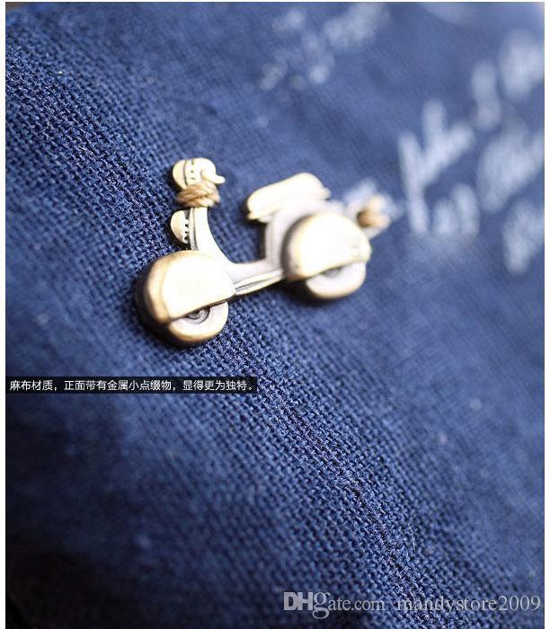 빈티지 여성 캔버스 가방 동전 키 체인 키 지갑 미니 지퍼 지갑 변화 포켓 중공 주머니 정리 화장품 메이크업 분류기