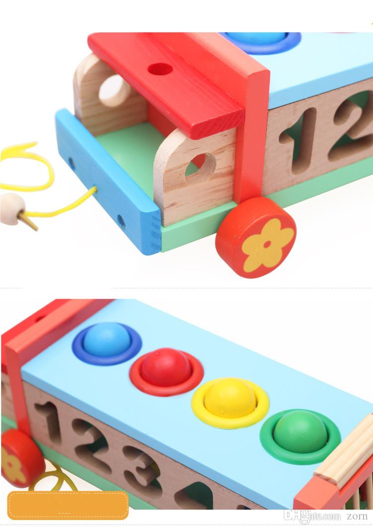 Learn numbers and Colors with Wooden Base Wooden Hammer to Learn Colors for Kids and Toddlers | Wooden Educational Toys for Kids
