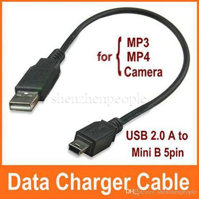 USB 2.0 A à Mini B 5pin Male Data Charger Cable pour MP3 MP4 GPS Caméra, / DHL gratuit