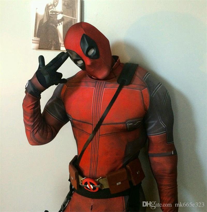 New The Avengers Deadpool Cosplay Halloween Costumes man Fancy Costumes Slim tight Theme Deadpool Costume Roleplay