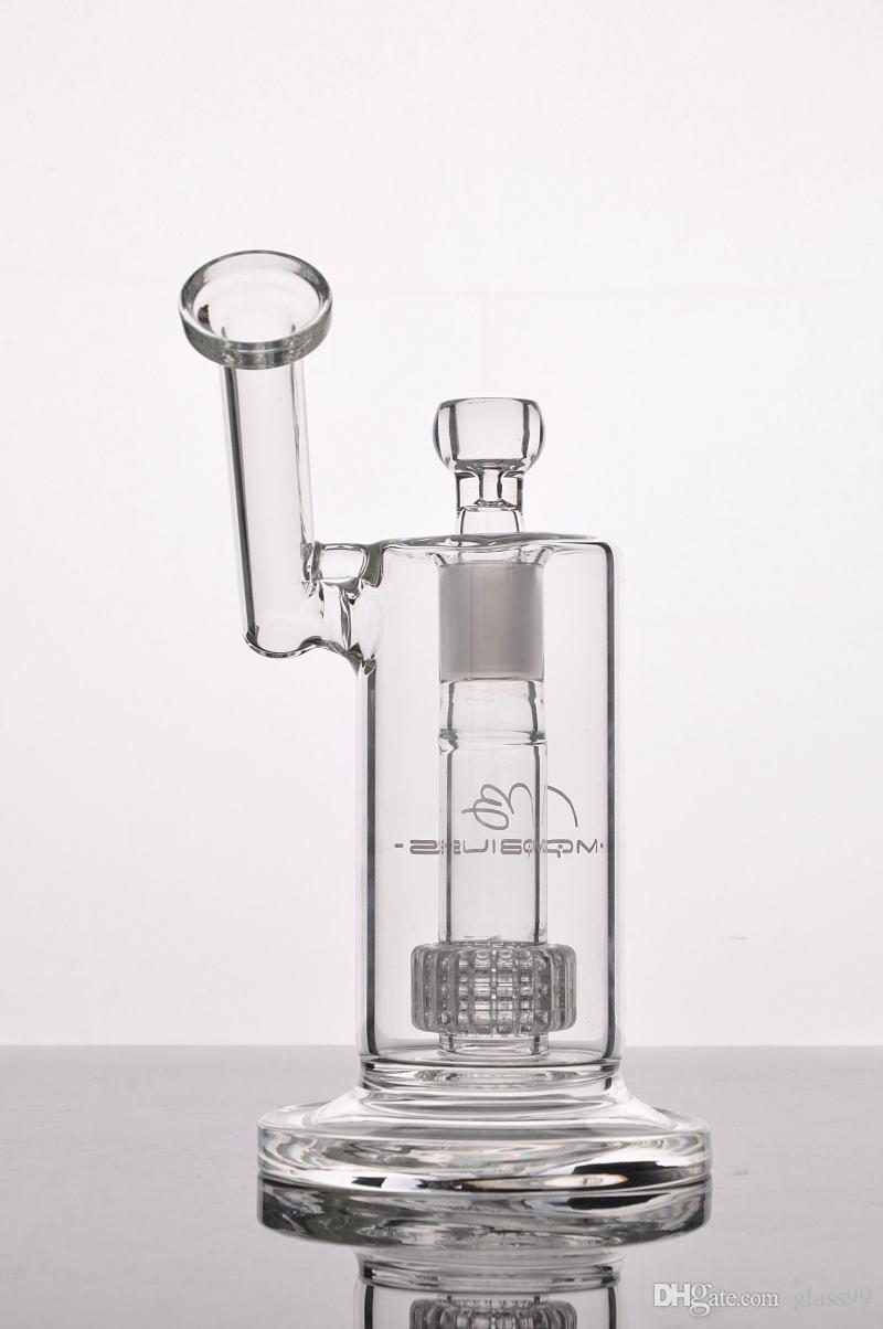 새로운 Mobius 매트릭스 사이드카 유리 봉 버 키치 Perc 유리 봉포 두꺼운 유리 물 흡연 파이프가 18mm 조인트