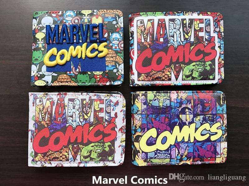 Portafoglio corto Marvel Avenger Student anime Q Ver. Borsa studentesca