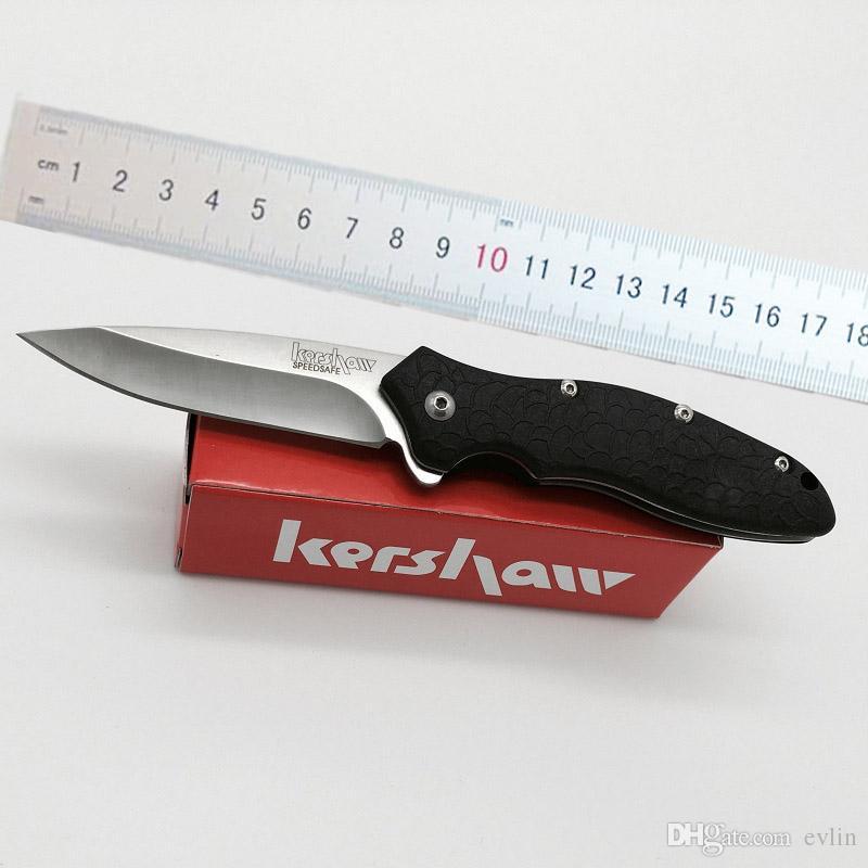 새로운 커쇼는 1830 전술 플리퍼 접는 나이프 EDC 포켓 나이프는 원래 종이 상자 팩 서바이벌 포켓 나이프를 칼