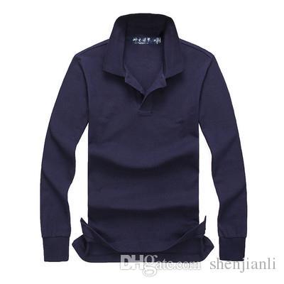Livraison gratuite 2017 automne et l'hiver nouveau à manches longues de haute qualité mode masculine POLO occasionnels Polo homme manches longues taille S-XXL