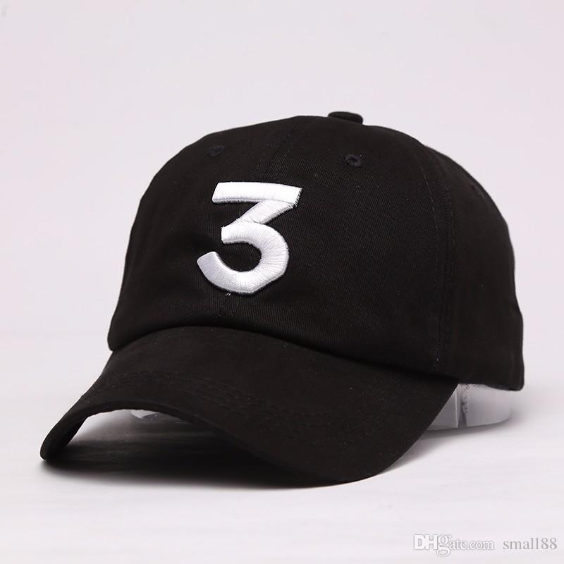 Embroidered Chance The Rapper 3 Hat Black Baseball Cap Fashion Kanye West  Bear Dad Caps Casquette Hip Hop Strapback Sun Drake Ovo Hats Fitted Cap  Baseball ... 104e7aff4f2