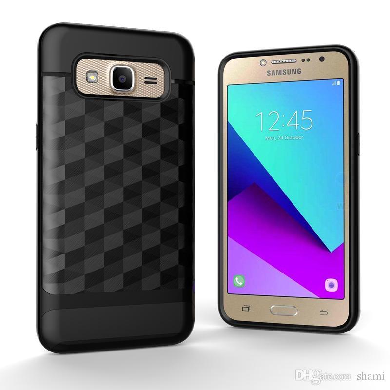 9af69a65975 Fundas Para Telefonos Cepille La Caja Del Teléfono Del Espejo Ling Para  Samsung Goophone J2 Prime J5 Prime Case Bling De Diamante Causa Tpu Pc 2  In1 J7 ...