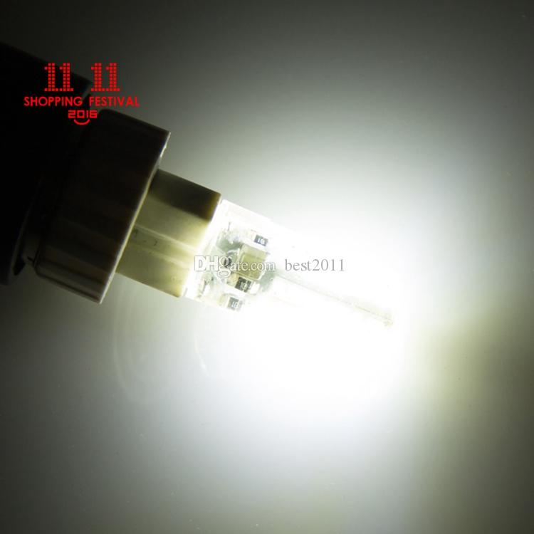 11.11 Shopping Festival 3014 SMD G9 64Leds LED Crystal Lamp 3W 110V 220V Silicone Corn Bulb For Chandelier Spot Lighting