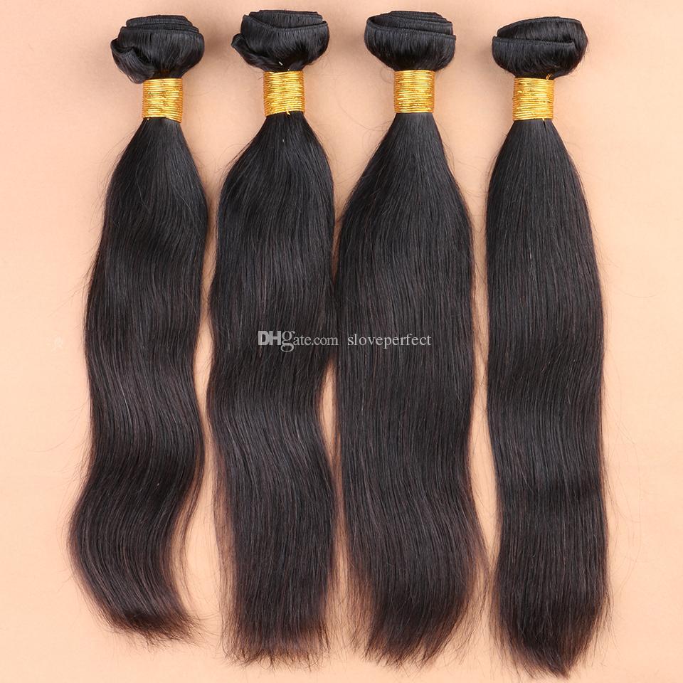 Необработанные бразильские прямые волосы 4шт бразильские прямые волосы ткать пучки 8