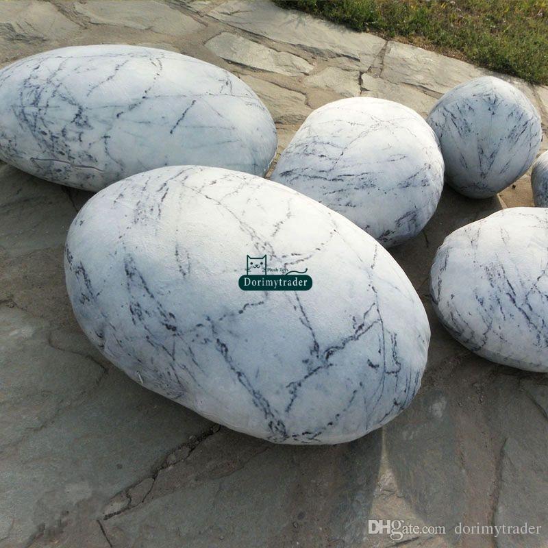 Dorimytrader A SET 6 Stück natürliche Form Kissen große gefüllte Soft Simulierte Mercury Stein Kissen mit Baumwolle Kostenloser Versand DY61072