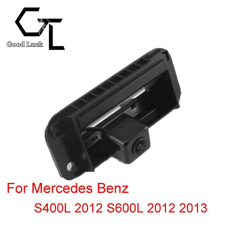 For Mercedes Benz S400L 2012 S600L 2012 2013 trunk handle Wireless Car Auto Reverse Backup CCD HD Night Vision Rear View Camera