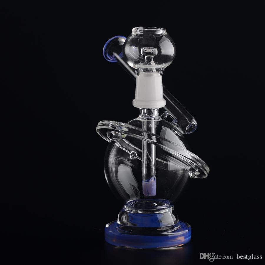 Nuevo planeta diseñado Bong Oil Rigs Filtro en línea Anillo transparente Tubo de agua de alta calidad 14.5mm Junta de vidrio BestGlass G41