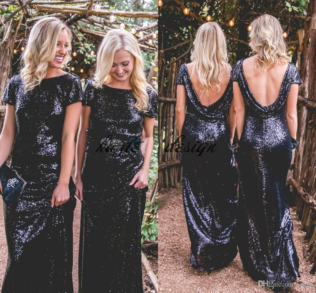 Navy blue sequins country long bridesmaid dresses with cloak 2018 navy blue sequins country long bridesmaid dresses with cloak 2018 sparkly cap sleeve boho beach holiday maid of honor junior bridesmaid gown bridesmaids ombrellifo Image collections