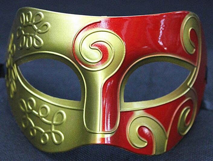 2016 New Retro Roman Gladiator Halloween Party Facial Masquerade Mask Venetian Dance Party Mask Men Mask