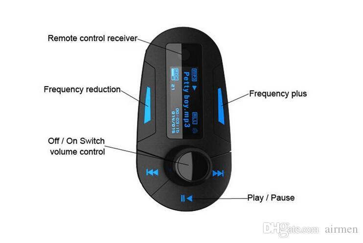 Kit de voiture de haute qualité Lecteur MP3 Lecteur sans fil Modulator MP3 MP4 USB SD MMC LCD / Chargeur à distance Chargeur USB