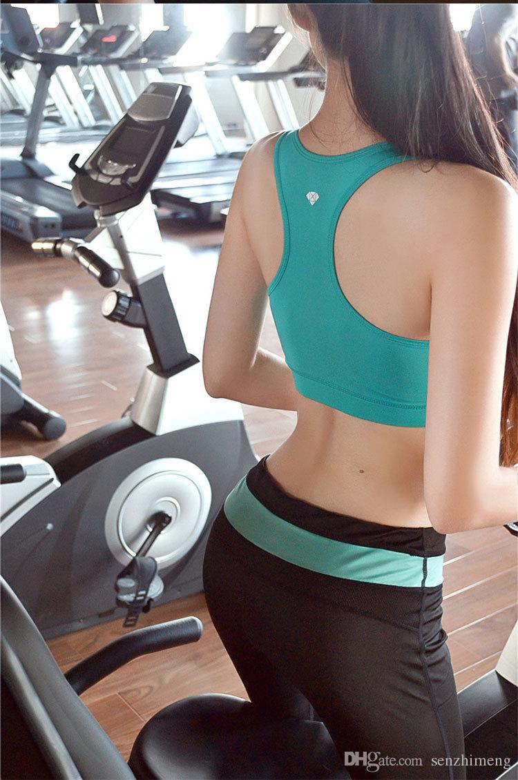 2016 Running Underwear Seamless sports bra yoga bra-shaped thin models fast drying Workout clothes yoga clothes summer sports bra no rims