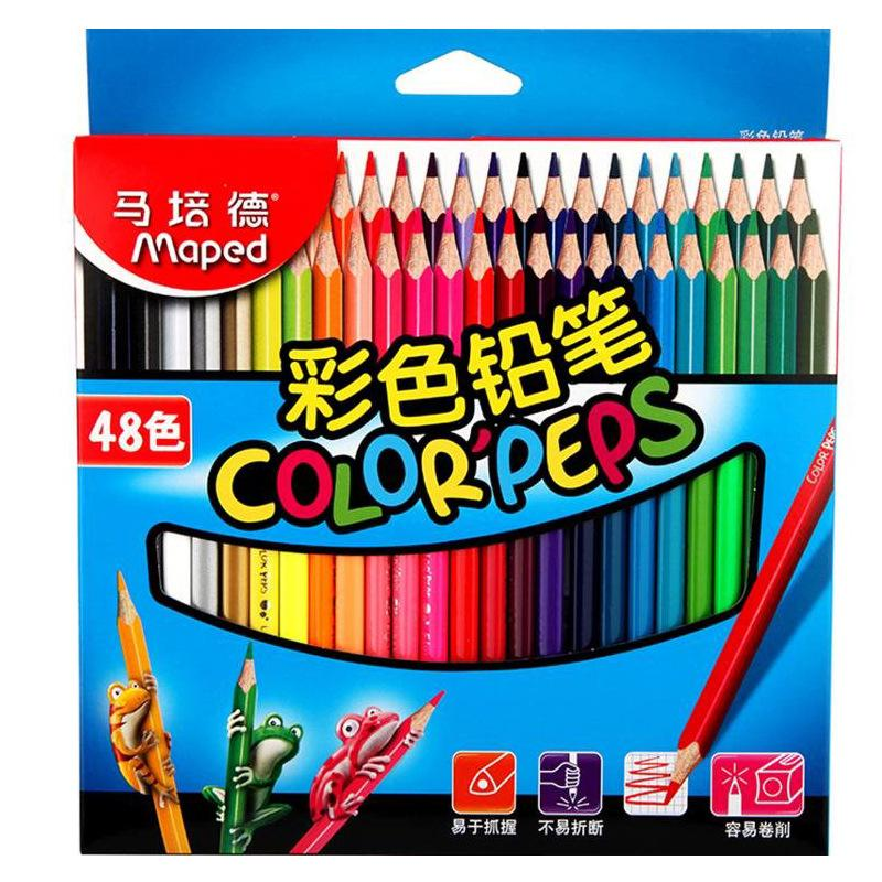 2016 Brand NEW Maped 48 Colors Secret Garden Enchanted Forest Coloring Books Drawing Painting Pens DHL Fedex Free