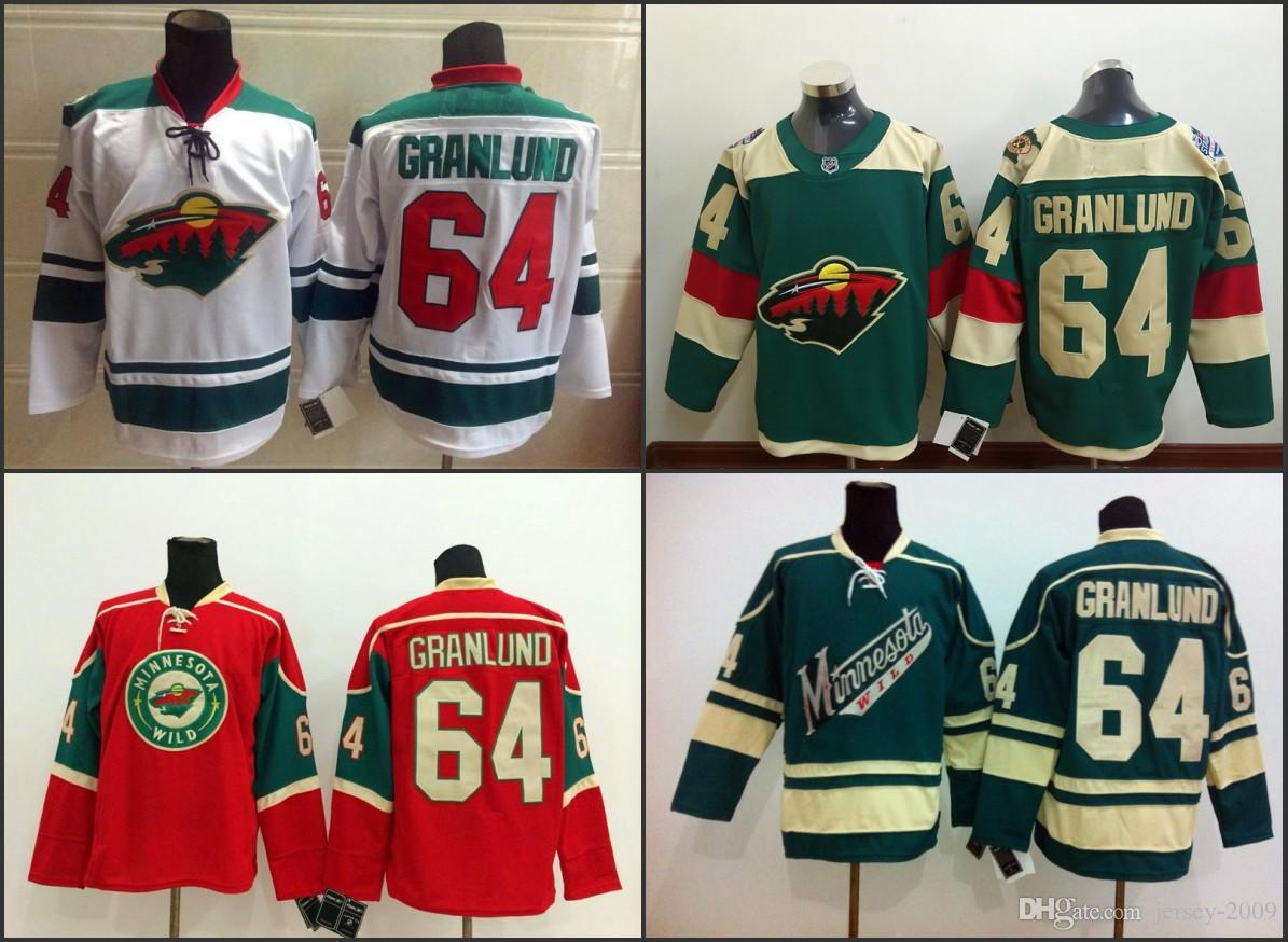 1ef7066cd 2019 2016 Stadium Series Minnesota Wild  64 Mikael Granlund Hockey Jerseys  Home Red White Green Stitched S 3XL From Jersey 2009