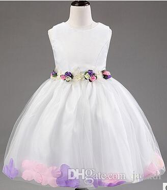 Großhandel Neue Mädchen Partei Kleid Lvory Elegante Baby Prinzessin ...