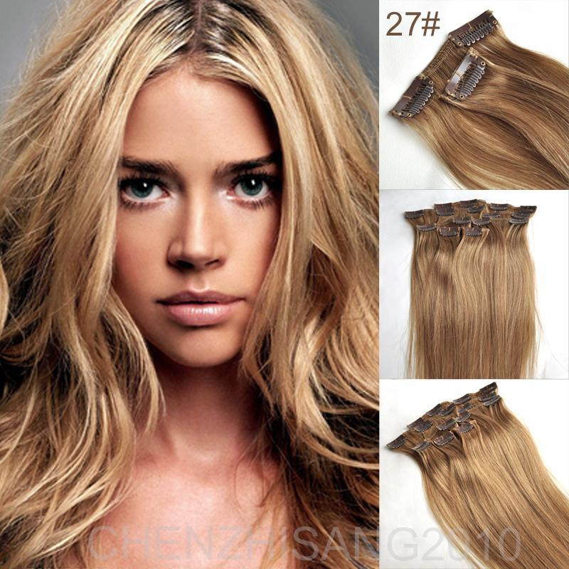 Fashion remy human hair extension 100 real virgin hair 16 28 inch fashion remy human hair extension 100 real virgin hair 16 28 inch clip inon hair extensions weave color 27 honey blonde straight pmusecretfo Image collections